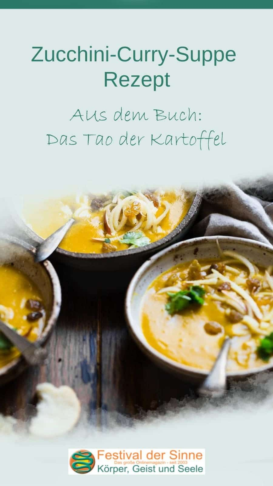 #Zucchini-Curry-Suppe #Rezept (Pin)